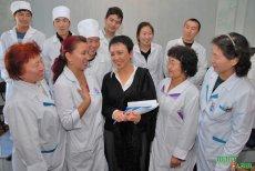 Larisa Shoigu meeting with colleagues in Medical College, Kyzyl. November, 7 2007
