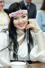 "Head of Tuva welcomes participants of the International Beauty Contest ""Miss Centre of Asia"""